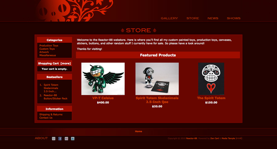 New Reactor-88 Online Store Screenshot
