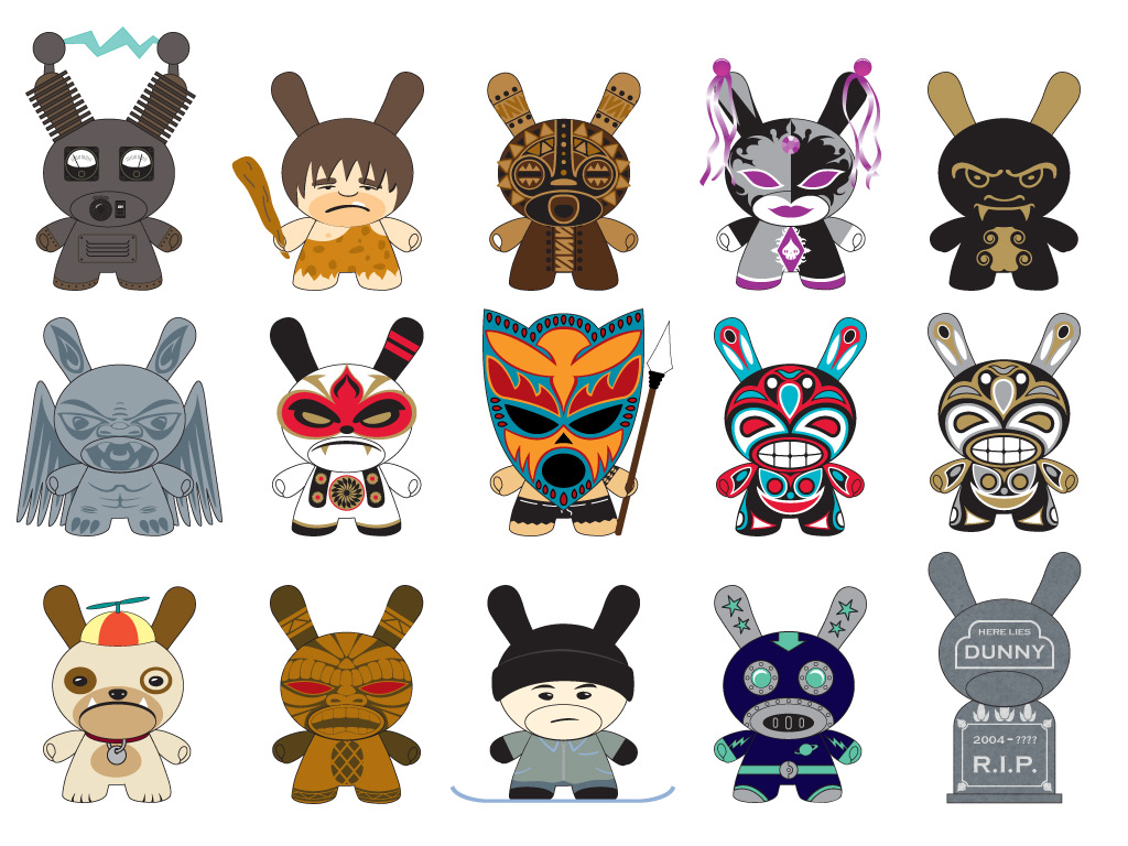 Rejected Dunny Designs