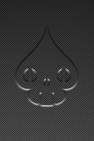 Spade-Skull Carbon Fiber iPhone Background