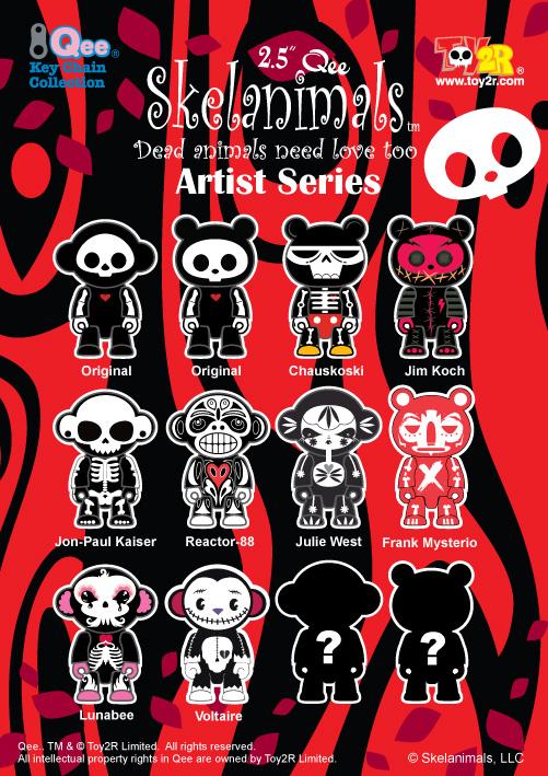 Skelanimals Artist Series Qee Collection - Reactor-88