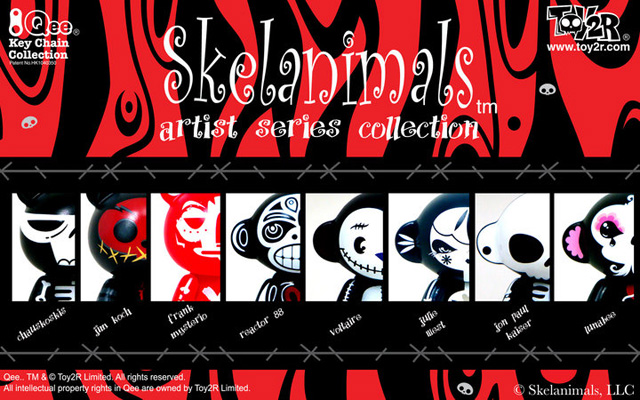 Skelanimals Qee Artist Series Collection Preview SDCC - Reactor-88