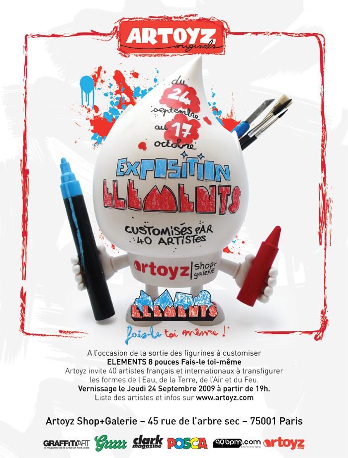 Artoyz Element Exhibition Flyer
