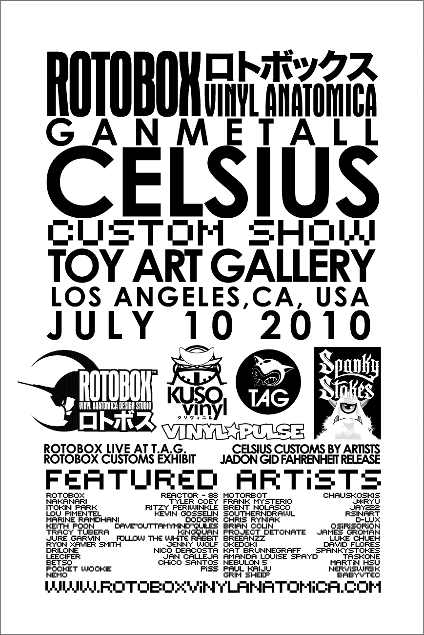Ganmetall Celsius Show Flyer