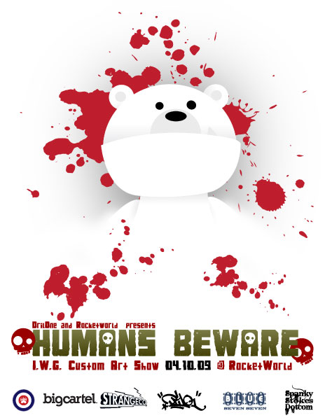 Humans Beware - IWG Custom Art Show