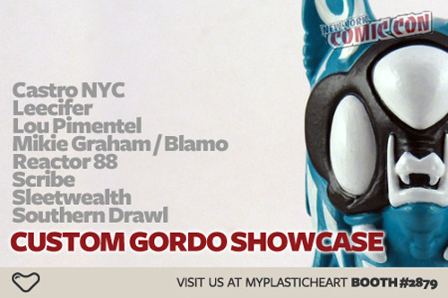 Myplasticheart's Custom Gordo Showcase at NYCC 2010