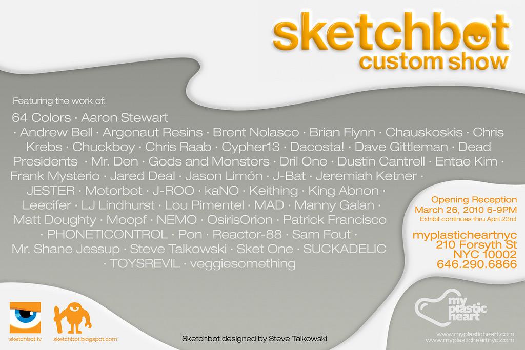 Sketchbot Custom Show Flyer - Back