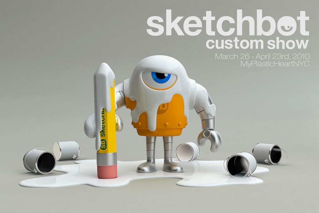 Sketchbot Custom Show Flyer - Front