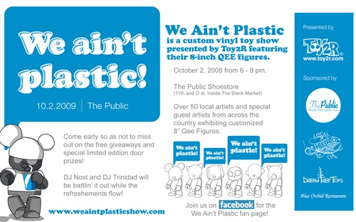 We Ain't Plastic Qee Exhibit Flyer